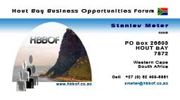 Hout Bay Business Opportunities Forum